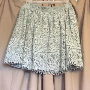 Mint Green Lacey Skirt